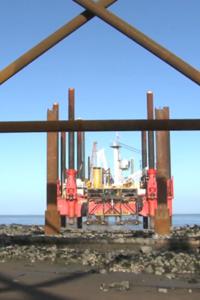 hinkley point jetty construction